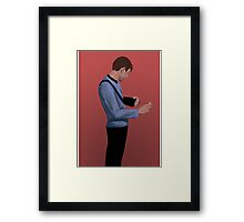 Doctor McCoy and his curly body Framed Print