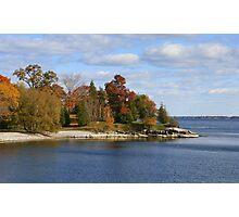 Fall Comes To Lake Ontario Shore Photographic Print