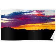 Badland Sunset Poster