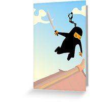 Ninja Jump Greeting Card