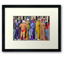 Comic book heroes Framed Print