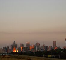 sunset city station by pantsman