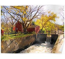 Griggstown Spillway, Somerset County, NJ Poster