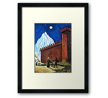 Oil Painting - The Two Forces. Fantasy 1990 Framed Print