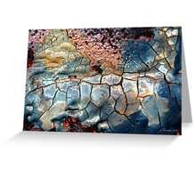 Blue Blazes Greeting Card
