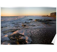 Kure Beach - Looking South Poster