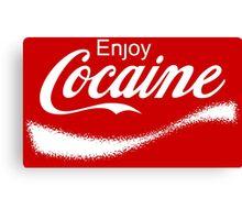 Enjoy Cocaine - Parody Canvas Print