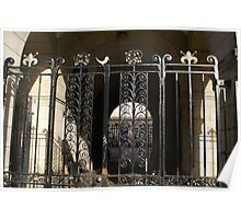 Edinburgh - lovely wrought iron gate in Cowgate Poster
