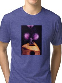 Cat and Mouse on Swiss Cheese Tri-blend T-Shirt