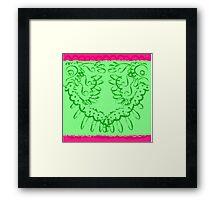 RETRO-Lace Skirt #1 Framed Print