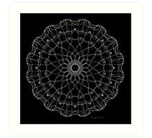 Wayward Lace - Black - Color Me! Art Print