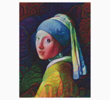 "DeepDreamed ""Girl with a Pearl Earring"" One Piece - Short Sleeve"
