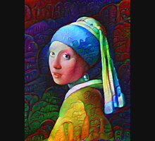"""DeepDreamed """"Girl with a Pearl Earring"""" Unisex T-Shirt"""