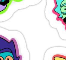 Multi Color Rick Sticker Sheet  Sticker