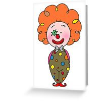 Red nose circus clown  Greeting Card
