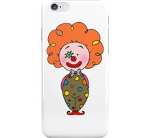 Red nose circus clown  iPhone Case/Skin