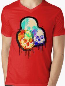 Skull Madness Mens V-Neck T-Shirt