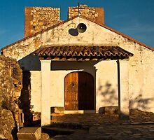 Chapel in Monfrague Castle by Gabor Pozsgai
