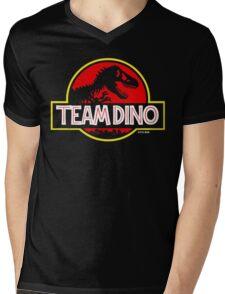 Team Dino Mens V-Neck T-Shirt