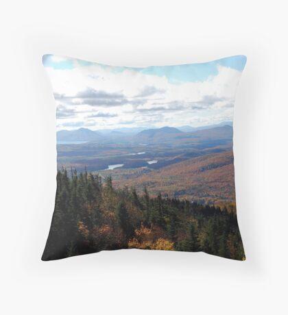 Climbing Mount Orford Throw Pillow