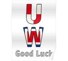 Good Luck - White BackGround Poster