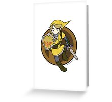Smash Brothers Yellow Link Greeting Card
