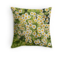 little patch of daisies Throw Pillow
