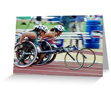 The Wheelchair Racers Greeting Card