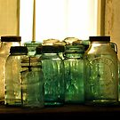 Old Glass Jars and Bottles by Kim McClain Gregal