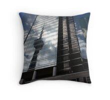 Reflection of CNN tower Throw Pillow