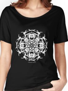 ORANGUTAN SNOWFLAKE BLACK Women's Relaxed Fit T-Shirt