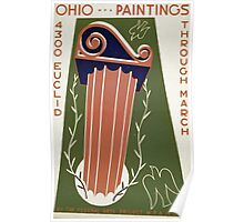 WPA United States Government Work Project Administration Poster 0181 Ohio Paintings Federal Arts Project Poster