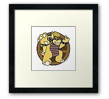 Smash Brothers Gold Bowser Framed Print