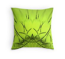 Cut Glass Lime Throw Pillow