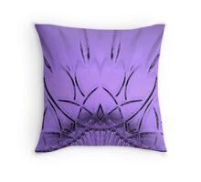 Cut Glass Mauve Throw Pillow