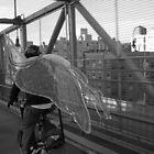 Williamsburg Bridge Bike Fairy by Justin  Shockley
