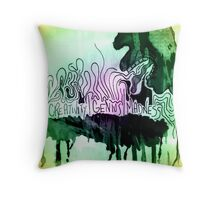 creativity | genius | madness Throw Pillow