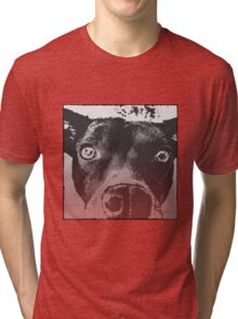 Monochrome Pop Art Dog Tri-blend T-Shirt