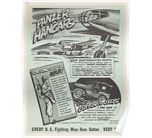 United States Department of Agriculture Poster 0149 Panzer Hangers Every Fighting Man Uses Cotton Every Day Poster