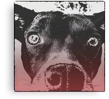 Monochrome Pop Art Dog Canvas Print