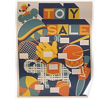 WPA United States Government Work Project Administration Poster 0898 Toy Sale Poster