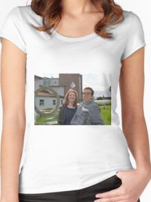 Bishop Justus School GCSE results students 2015 Women's Fitted Scoop T-Shirt