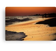 Sunset, Atlantic Beach, November 2009 Canvas Print
