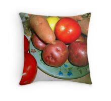 farmer's market finds Throw Pillow
