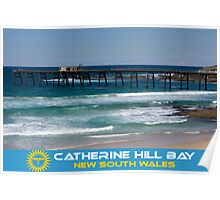 The Pier - Catherine Hill Bay Poster