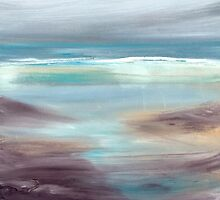 rough seascape by Claudia Dingle