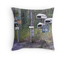 Letterboxes Throw Pillow