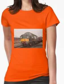 British Rail class 37 diesel-electric Locomotive Womens Fitted T-Shirt