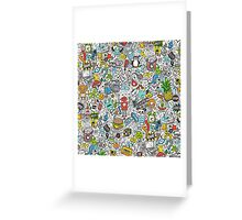Comic Popart Doodle Greeting Card