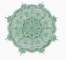 Watercolour Mandala Green T-Shirt
